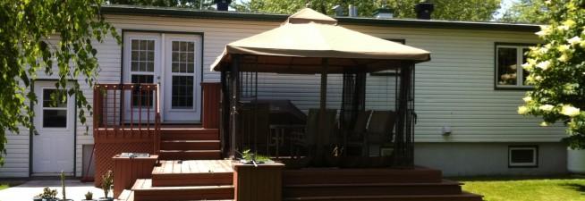 toile abri de jardin canevas fontaine. Black Bedroom Furniture Sets. Home Design Ideas